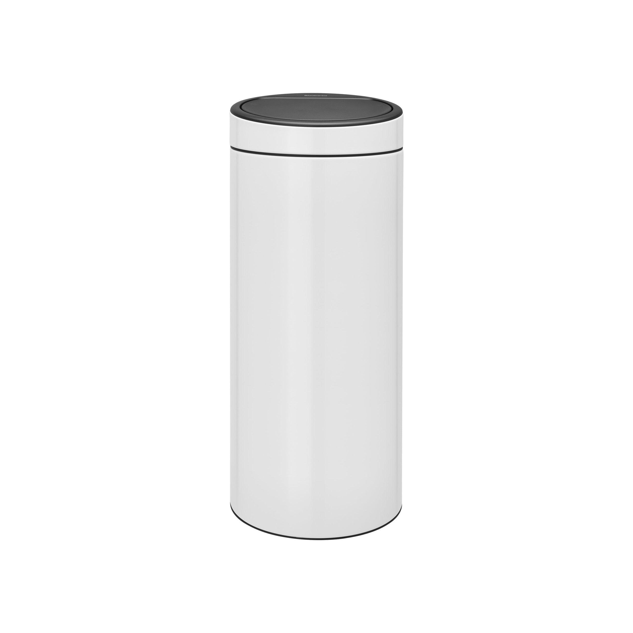 Pedaalemmer Brabantia Touchbin.Brabantia Touch Bin New Afvalemmer 30 Liter White Brabantia Touch Bin New Afvalemmer 30 Liter White