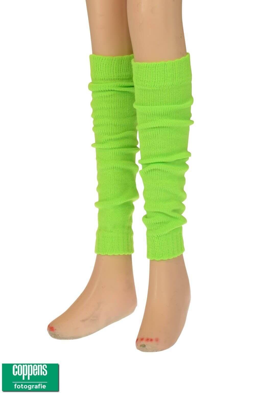 Beenwarmer acryl fluor groen