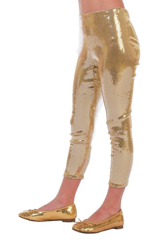 Legging pailletten goud