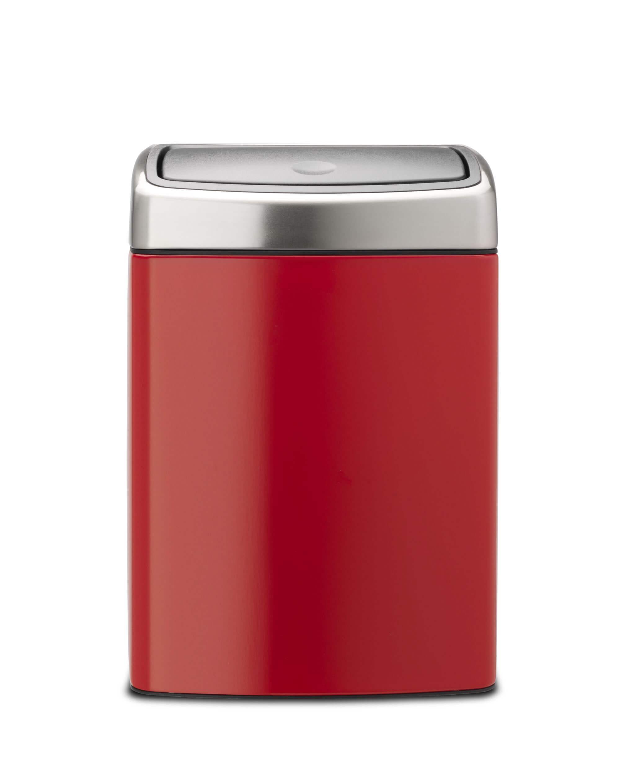 Pedaalemmer Brabantia 10 Liter.Brabantia Touch Bin 10 Liter Passion Red Brabantia Touch Bin 10 Liter Passion Red