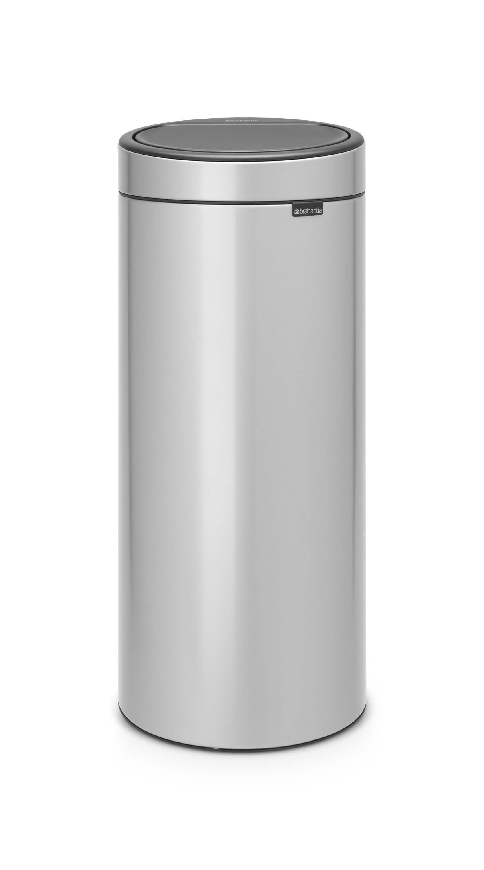 Brabantia Prullenbak 30 Liter.Brabantia Touch Bin 30 Liter Metallic Grey Brabantia Touch Bin 30 Liter Metallic Grey