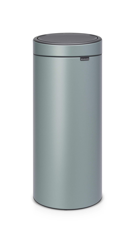 Brabantia Afvalbak 30 Liter.Brabantia Touch Bin 30 Liter Metallic Mint Coppens Warenhuis