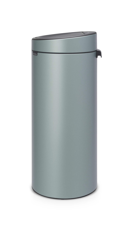 Aanbieding Brabantia Touch Bin 30 Ltr.Brabantia Touch Bin 30 Liter Metallic Mint Brabantia Touch Bin 30 Liter Metallic Mint