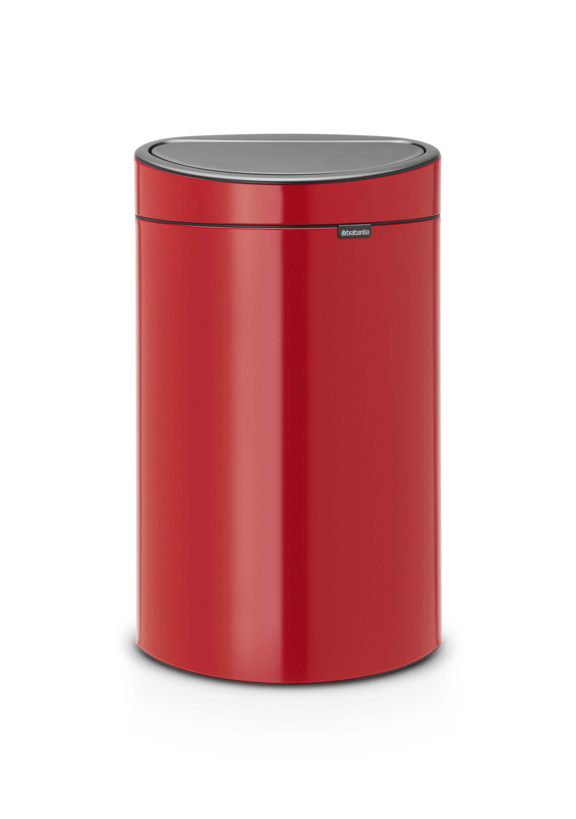 Brabantia Vuilnisbak 40 Liter.Brabantia Touch Bin 40 Liter Passion Red Brabantia Touch Bin 40 Liter Passion Red