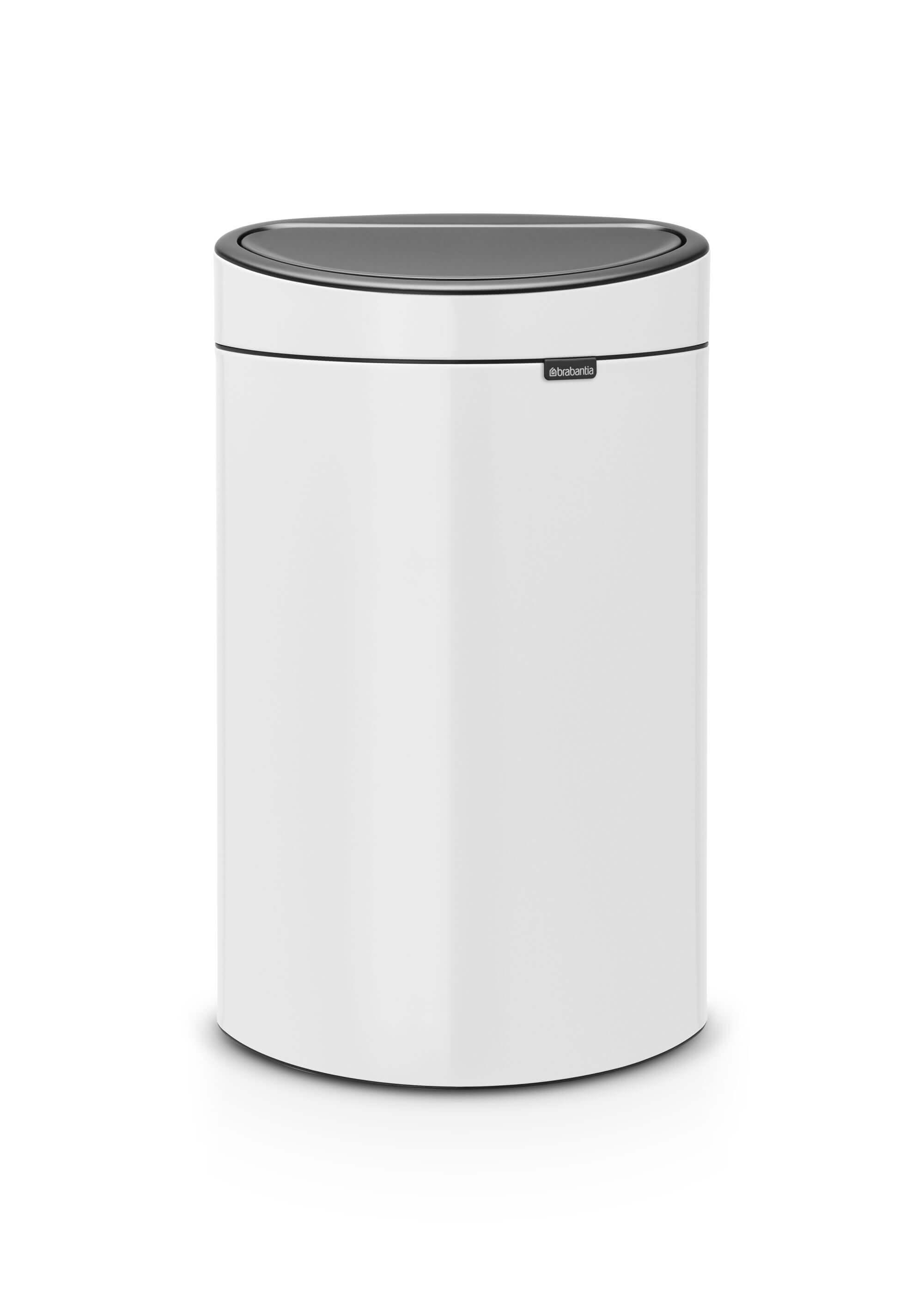 Garantie Brabantia Touch Bin 40 Liter.Brabantia Touch Bin 40 Liter White Brabantia Touch Bin 40 Liter White