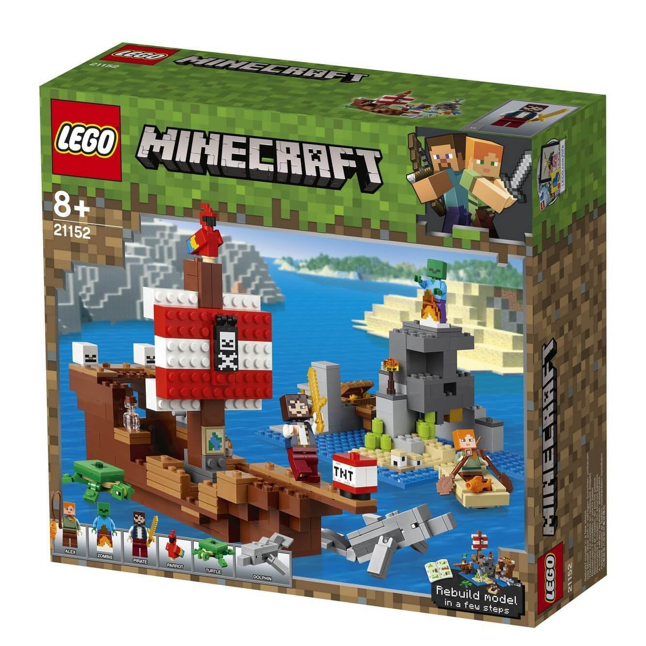 Opbergkist Voor Tuinstoelkussens.Lego Minecraft 21152 Avontuur Op Het Piratenschip Lego Minecraft 21152 Avontuur Op Het Piratenschip