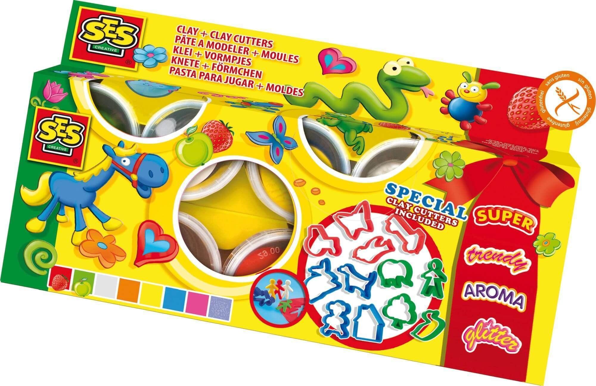 SES klei Superdough 8 kleuren -