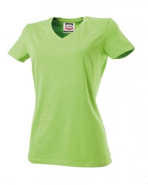 Dames Shirt Hals T Lime Fit Slim V HFwqUqB1