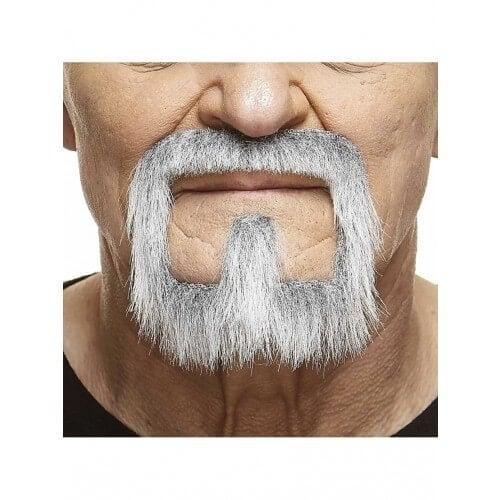Mustache with beard Vince grijs