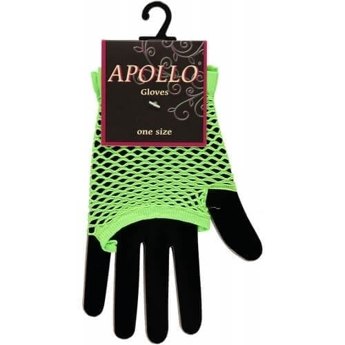 Visnet vingerloze handschoen groen