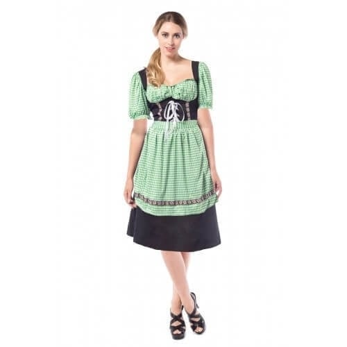 Dirndl Hannah Black/green