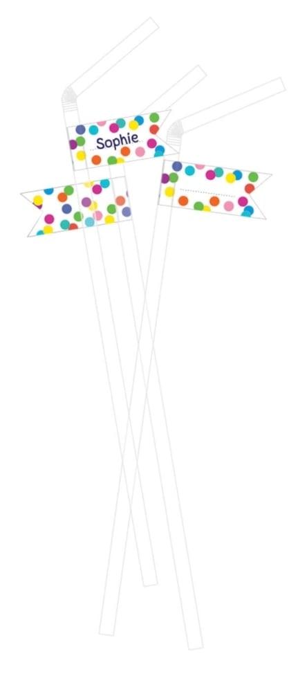 10 Rietjes confetti