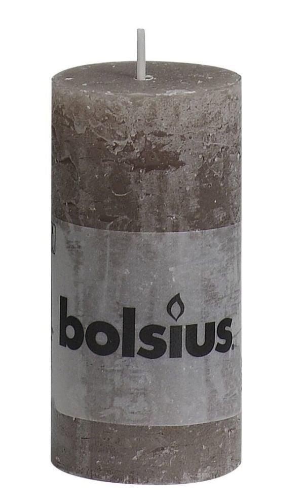 Bolsius Rustiek Stomp 10X5Cm Taupe