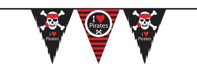 Vlaggenlijn PE Piraten 10 meter