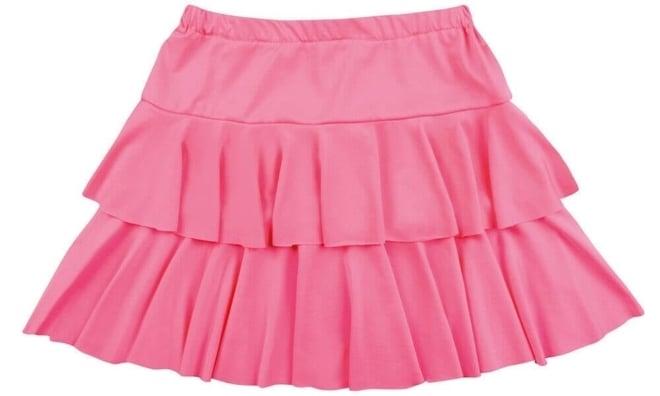 Minirok ruffles pink