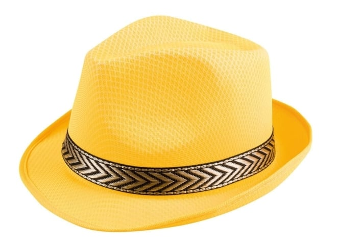 Hat funky yellow