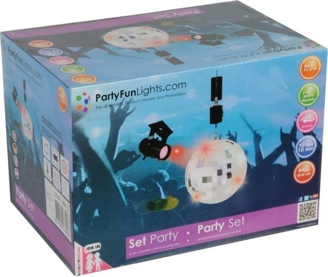 Disco lamp party set 2pcs