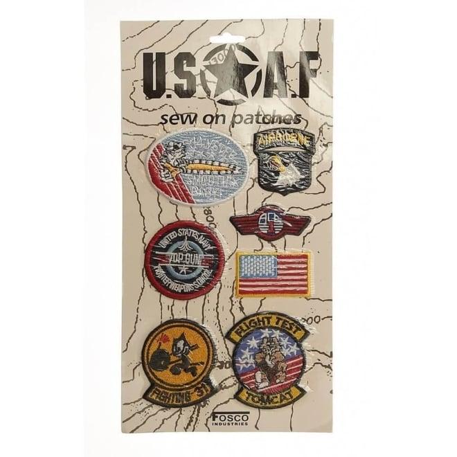 Kaart emblemen USAF stof