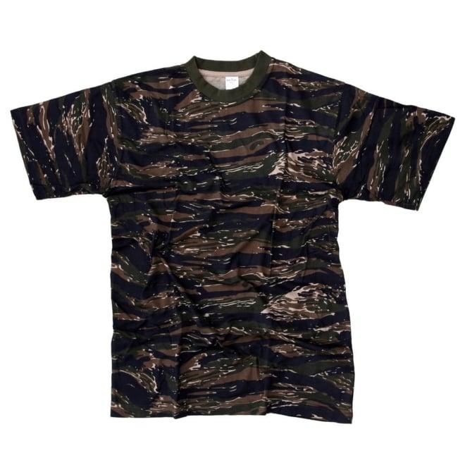 T-shirt Tiger stripe print