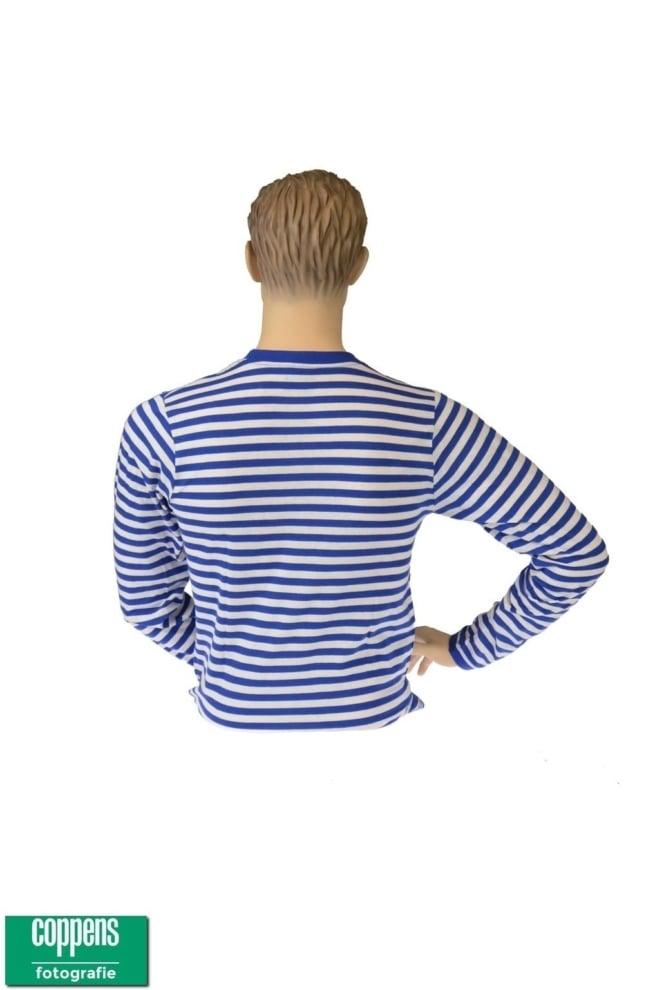 Dorus shirt blauw wit
