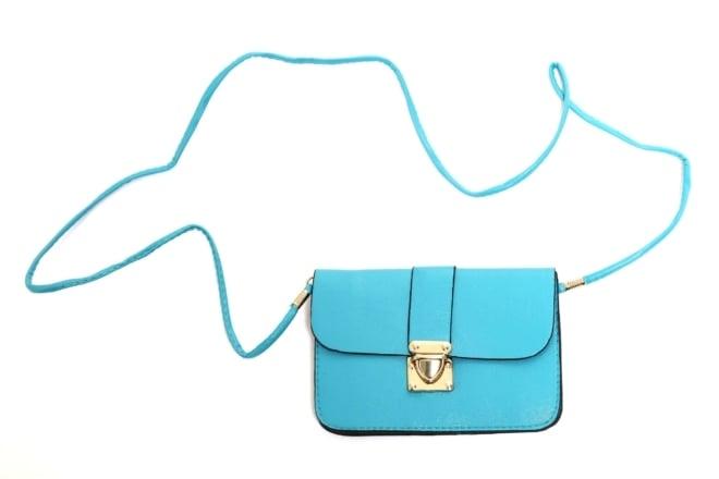 Tasje turquoise