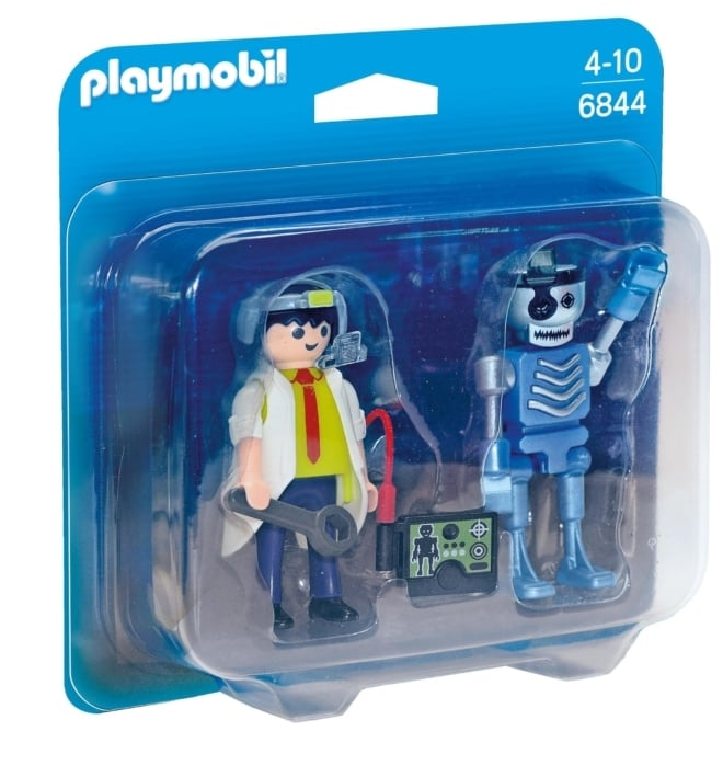 Playmobil® 6844 Duo Pack  Duopack uitvinder en robot op=op