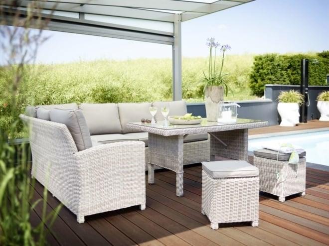 Kettler Marbella lounge hoek beach naturel 5mm (showroommodel)