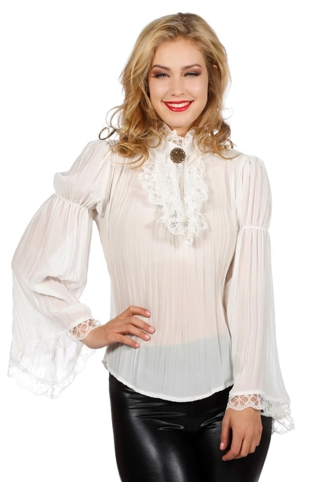 Piraten/gothic blouse, ecru