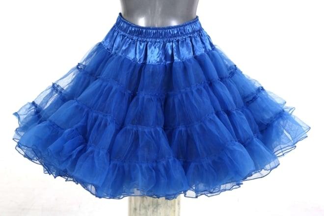 petticoat long blauw