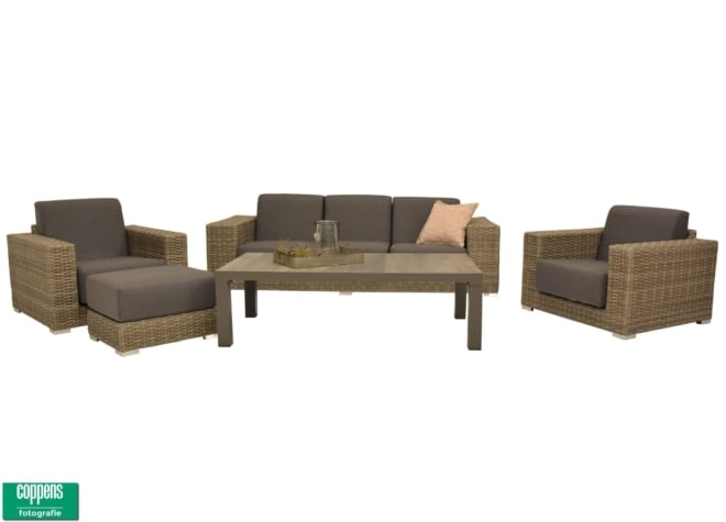Exclusief Cleveland lounge set met voetenbank