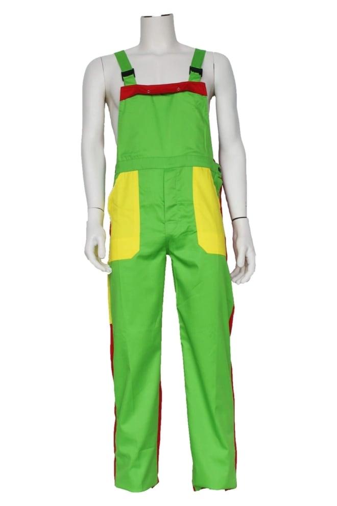 Tuinbroek kinderen groen/geel/rood
