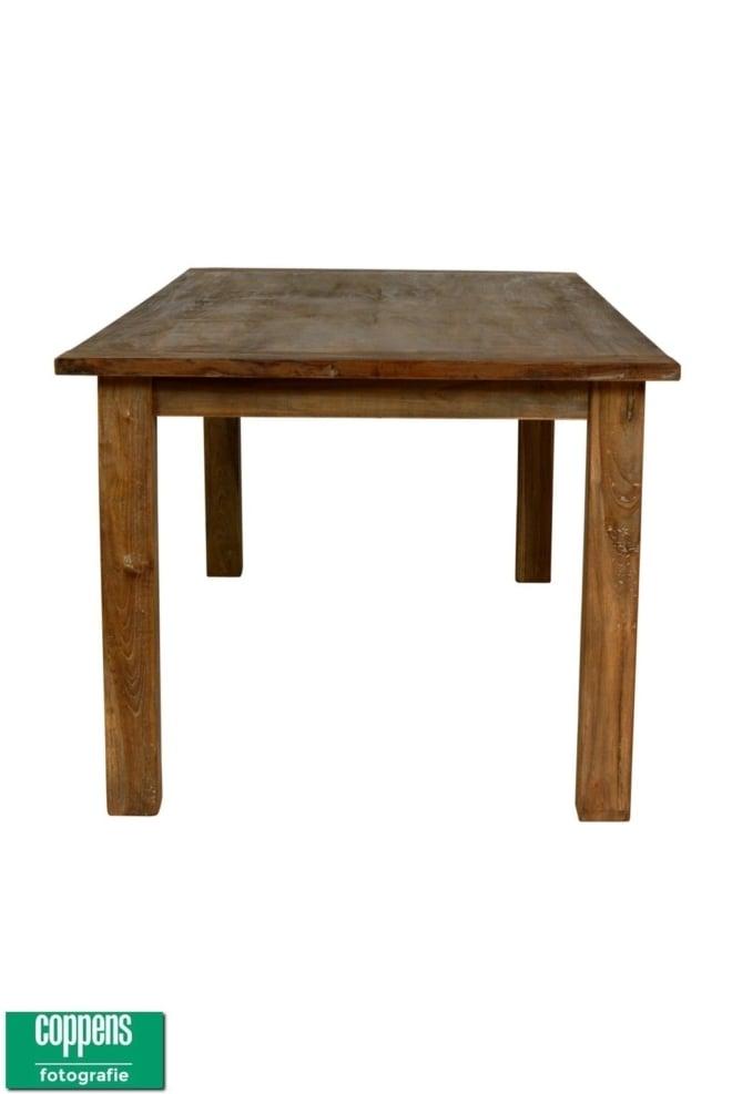 Teak tafel DingKlik (showroommodel)
