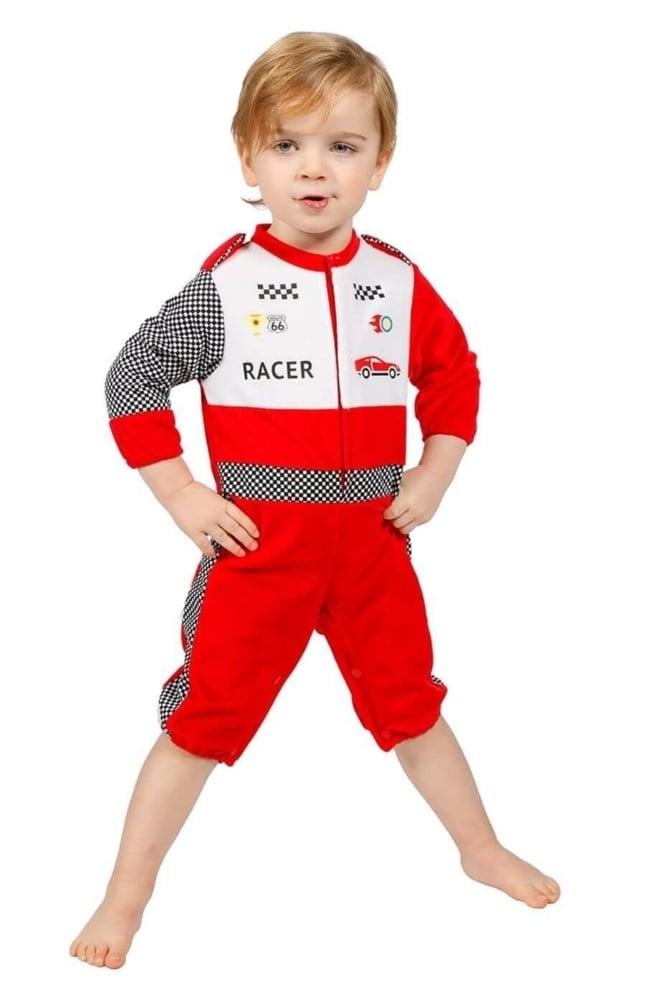 Onesie baby racer