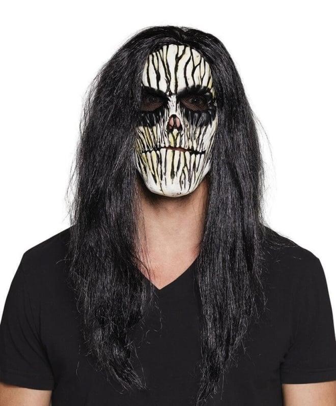 Latex masker met haar
