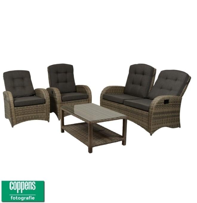 Exclusief Casablanca lounge set bruin/grijs