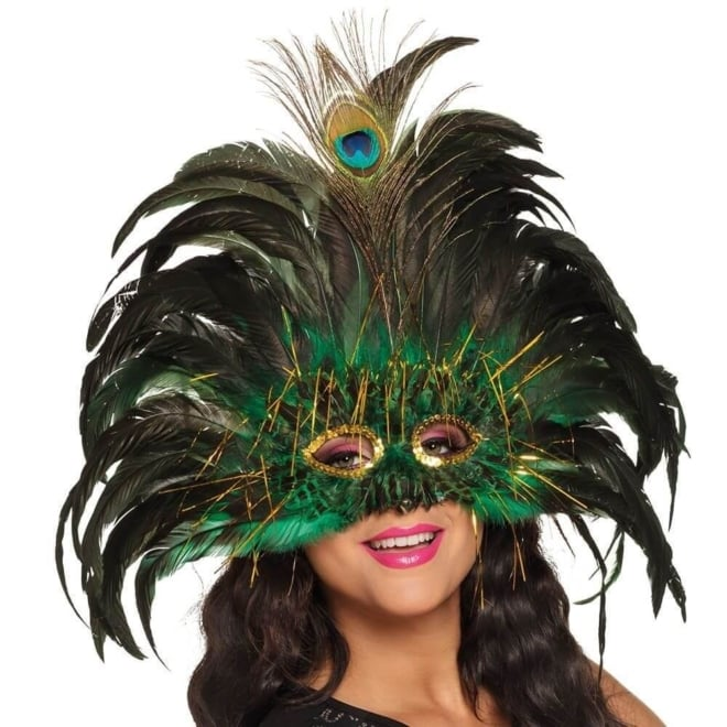 Oogmasker peacock queen
