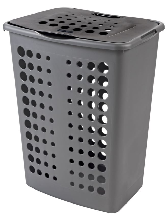 Curver wasbox victor 60 liter zilver / antraciet