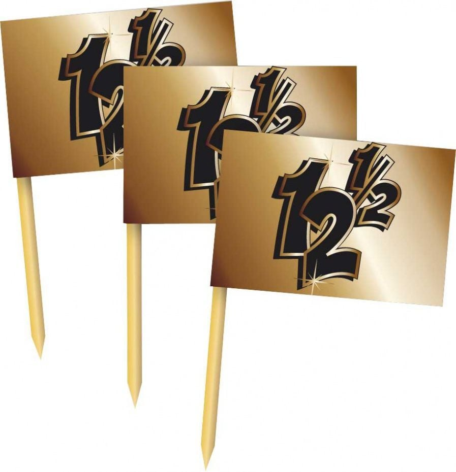 Partyprikkers brons 12,5 jaar 50 stuks