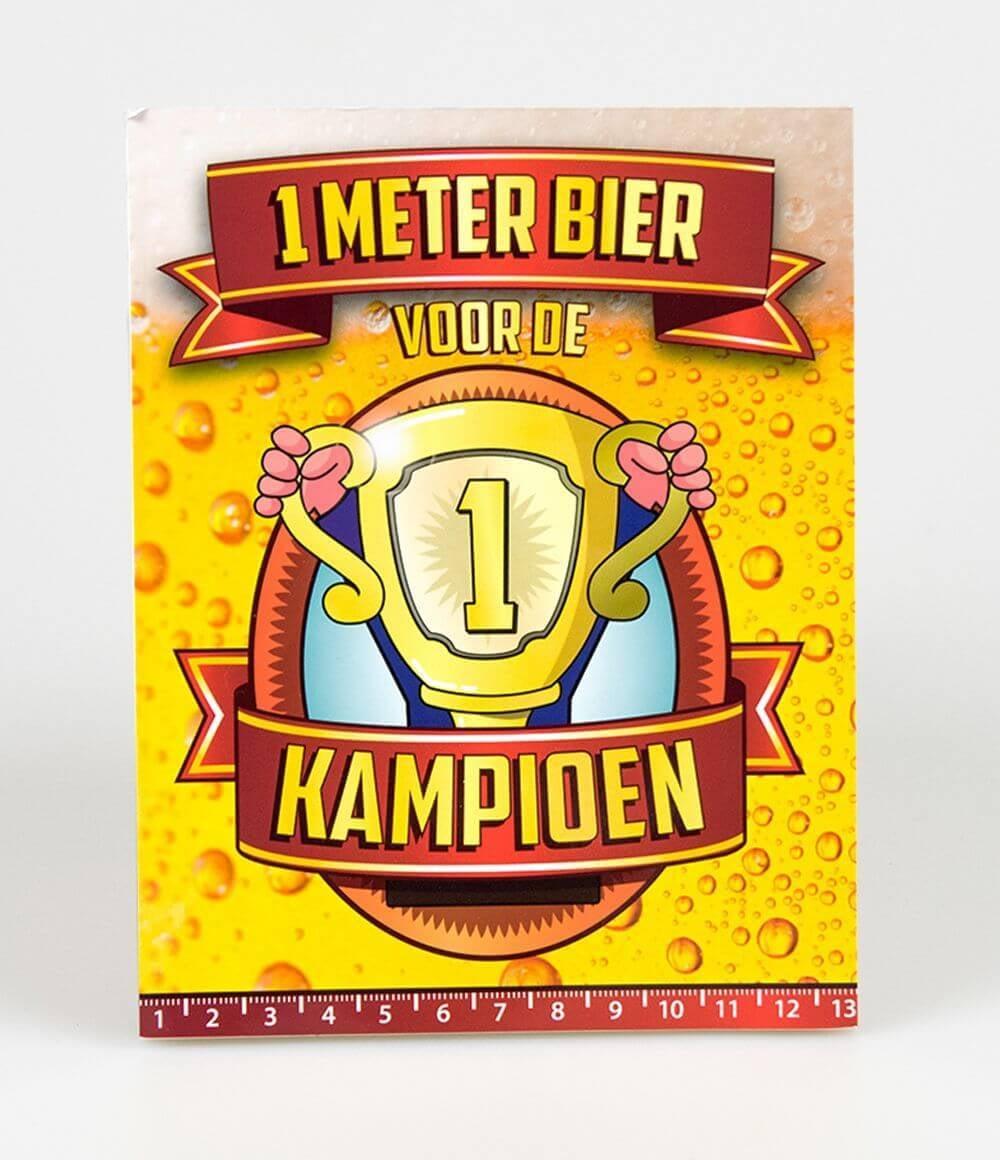 Bier Meter Kaarten Kampioen