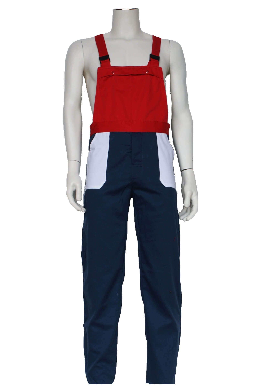 Tuinbroek kinderen navy/wit/rood