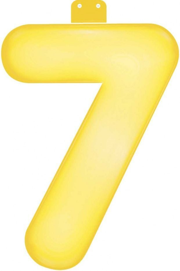 Funtext (35 cm) geel