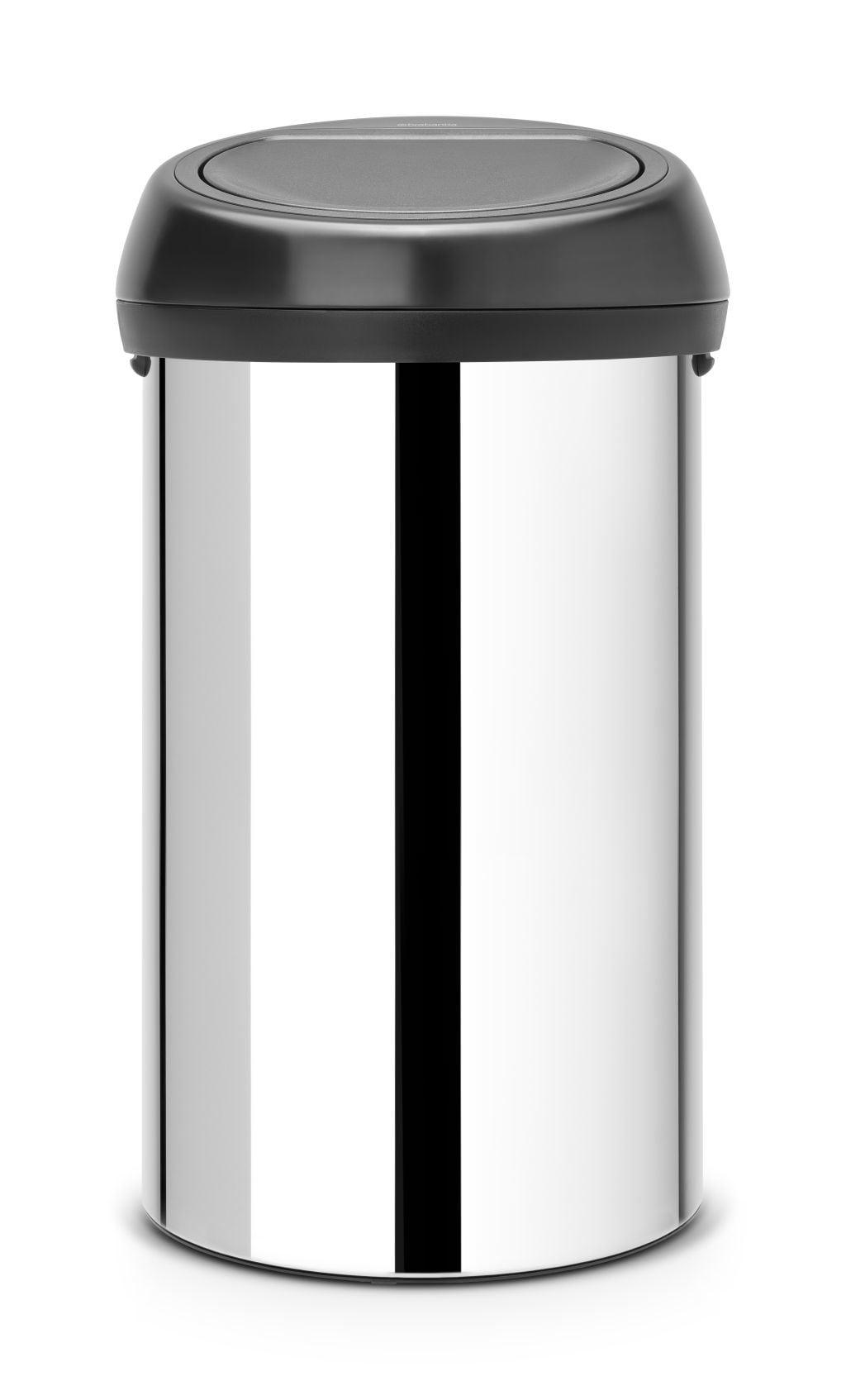 Brabantia Prullenbak 60 Liter.Brabantia Touch Bin 60 Liter Brilliant Steel Brabantia Touch Bin 60 Liter Brilliant Steel