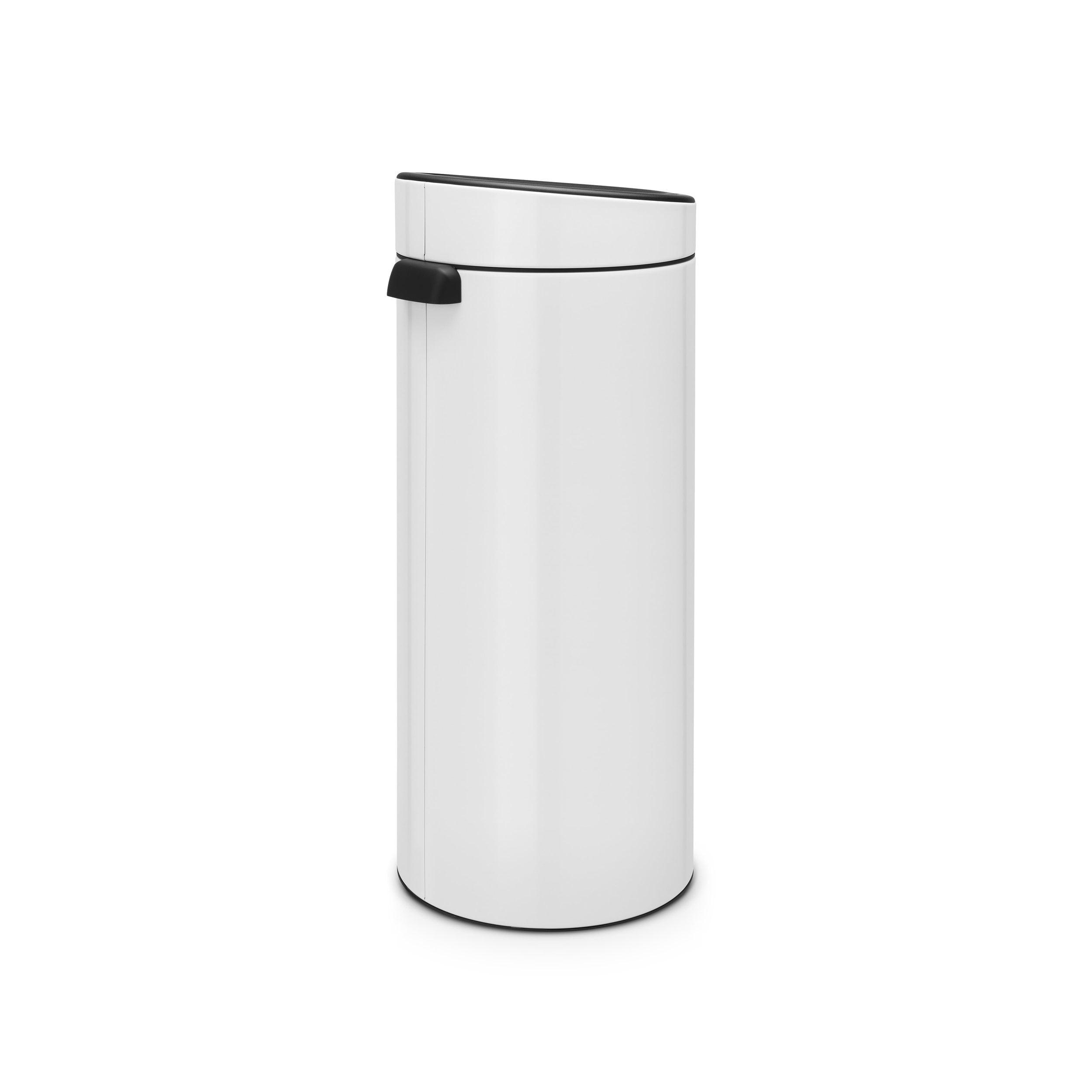 Brabantia 30 Liter Afvalemmer.Brabantia Touch Bin New Afvalemmer 30 Liter White Coppens Warenhuis