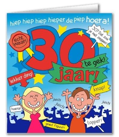 Wenskaarten - 30 jaar cartoon