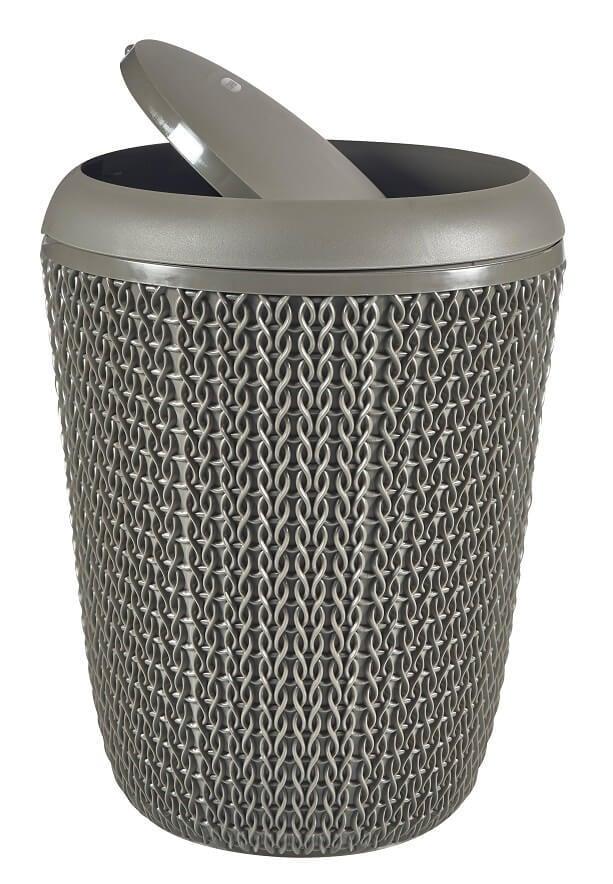 Curver Knit badkamer afvalbak 6ltr harverst brown | Coppens Warenhuis