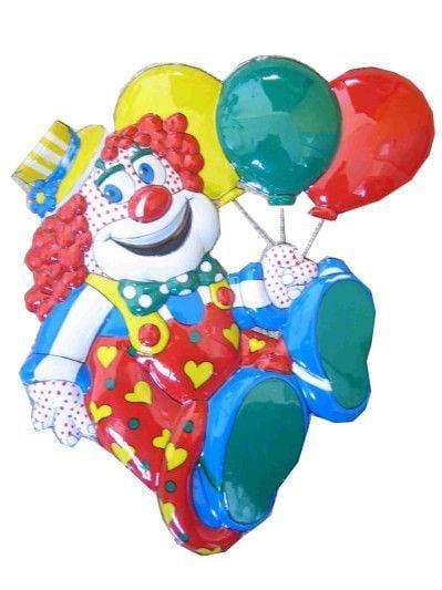 Decoratie clown met ballonnen