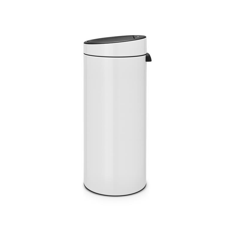 Afvalemmer Brabantia 30 Liter.Brabantia Touch Bin New Afvalemmer 30 Liter White Coppens Warenhuis