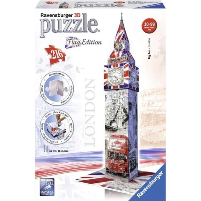 Ravensburger 3D-puzzel Big Ben Flag Edition