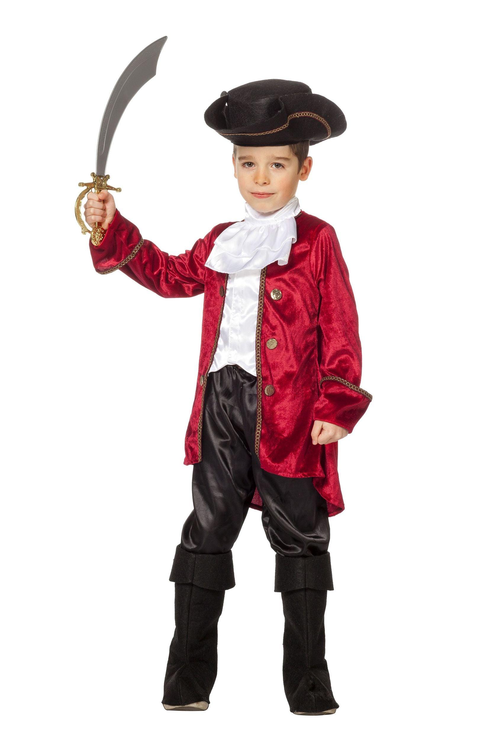 Piraat luxe met hes, broek, hoed en beenkappen