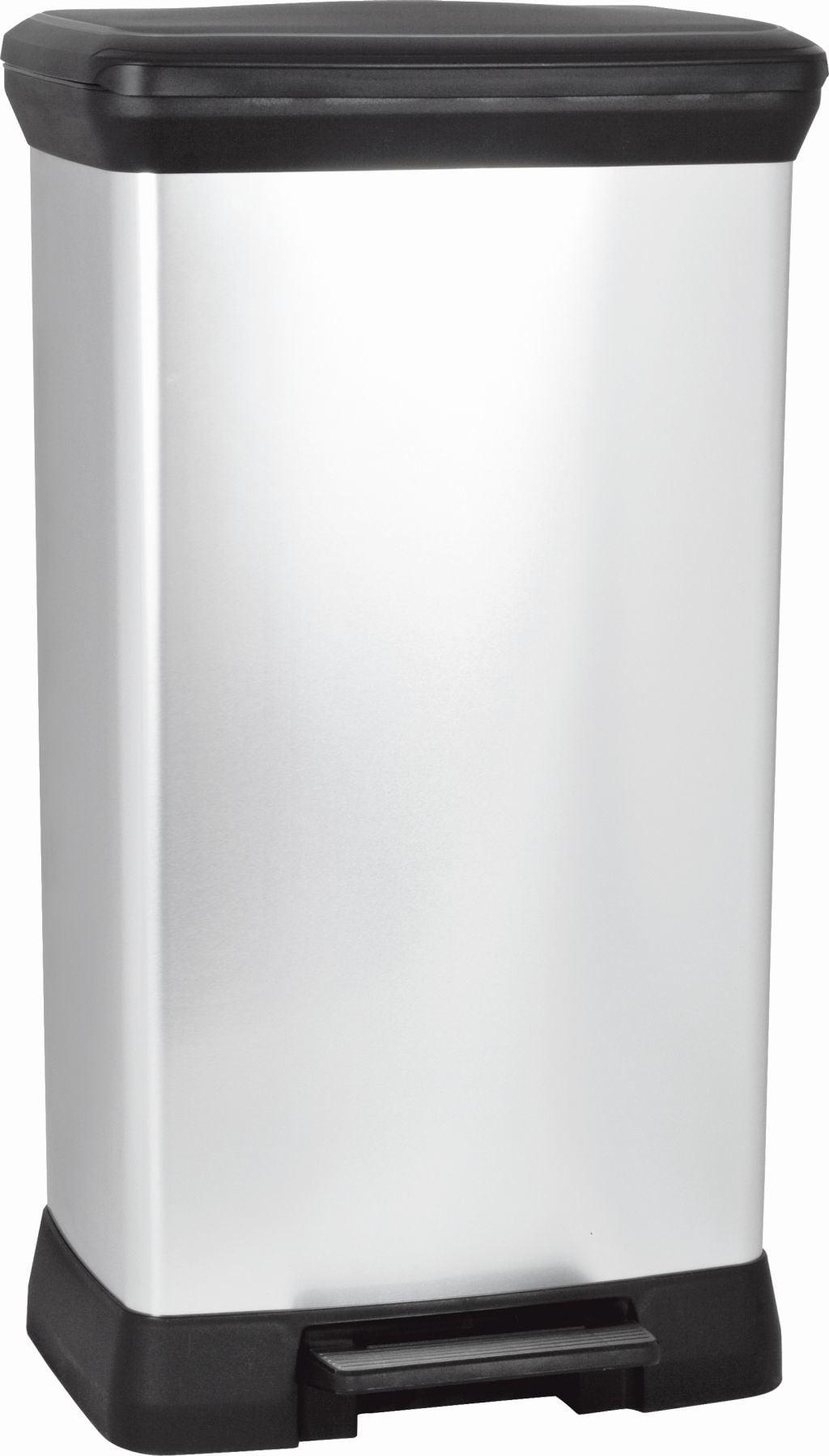Curver Decobin Pedaalemmer 50 L Zilver Metallic Zwart.Curver Decobin Pedaalemmer 50 Liter Zilver Metallic Zwart In Full Color Box Curver Decobin Pedaalemmer 50 Liter Zilver Metallic Zwart In Full